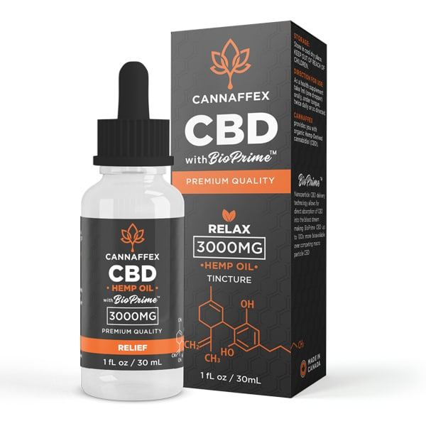 Cannaffex Relax CBD Oil Target Tincture 3000mg