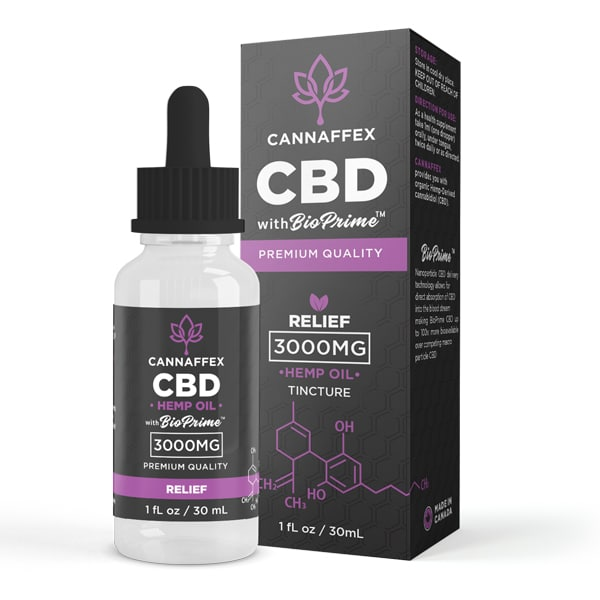 Cannaffex Relief CBD Oil Target Tincture 3000mg