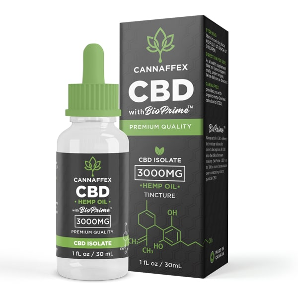 Cannaffex CBD Isolate Hemp Oil Tincture 3000mg