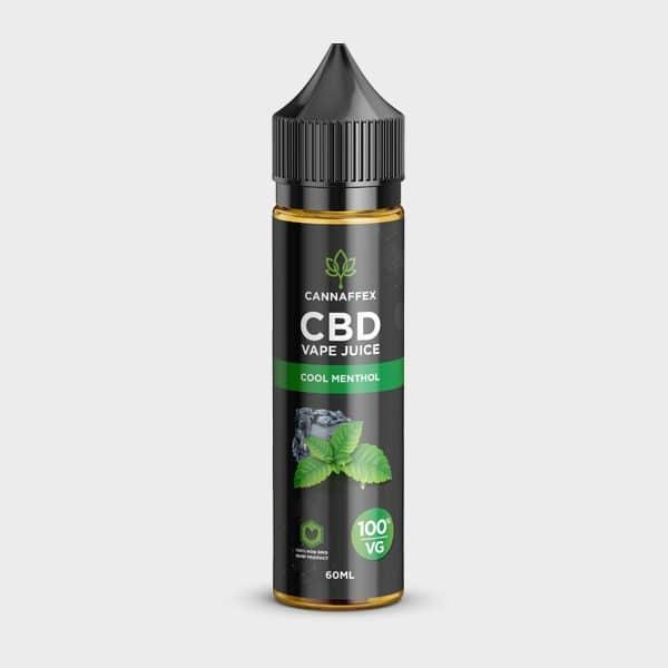 Cannaffex Cool Menthol Vanilla CBD Vape Juice 100VG