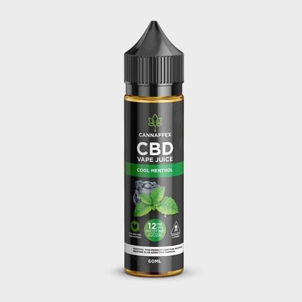 Cool Menthol CBD Vape Juice Canada 600mg with 12mg Nicotine