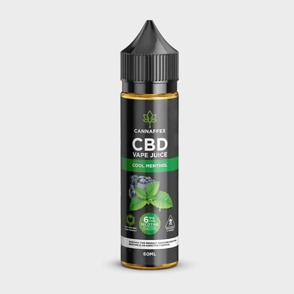 Cool Menthol CBD Vape Juice Canada 600mg with 6mg Nicotine