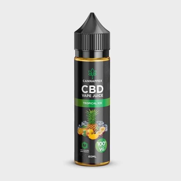 Tropical Ice CBD Vape Juice 100% VG Non-Nicotine 60ML