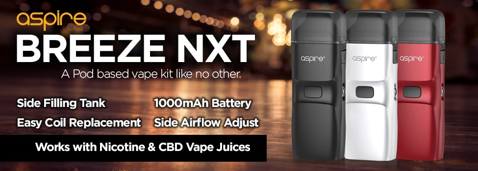 Aspire Breeze NXT - CBD & Nicotine Vape Kits
