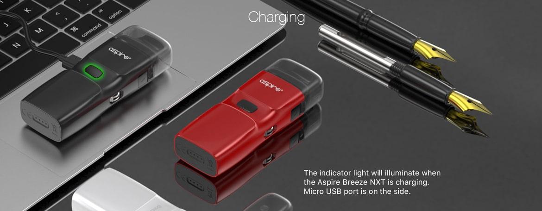 Breeze NXT Canada - Charging via USB