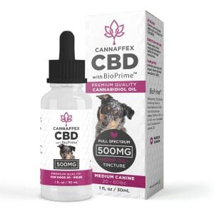 Cannaffex full spectrum CBD oil for medium sized dogs