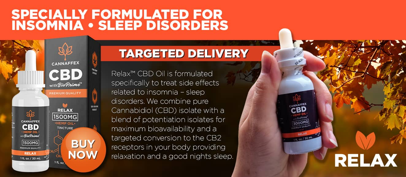 Cannaffex Relax CBD Oil Tinctures Canada