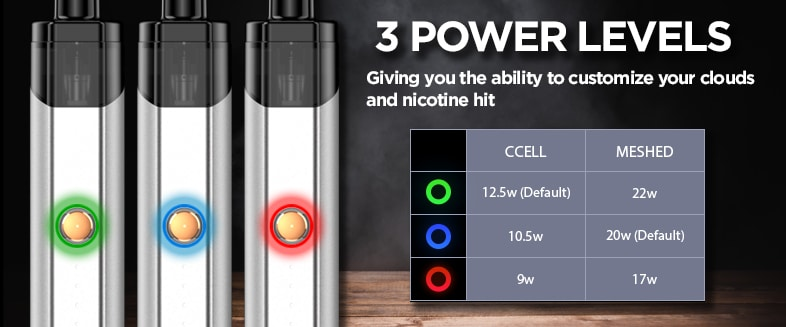 Vaporesso Podstick - 3 Levels of Power