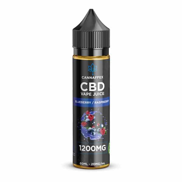 CBD Vape Juice Blueberry Raspberry 1200mg