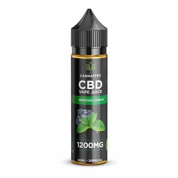 CBD Vape Juice Menthol Cream Vanilla 1200mg