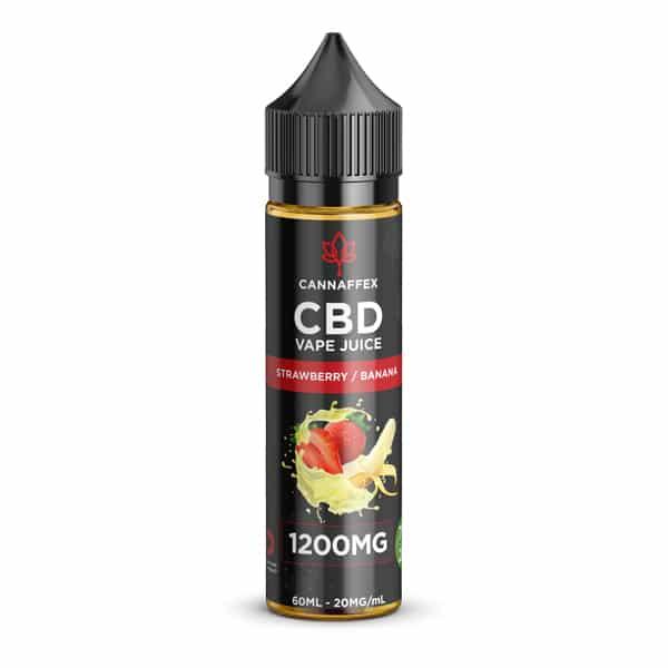 CBD Vape Juice Strawberry Banana 1200mg