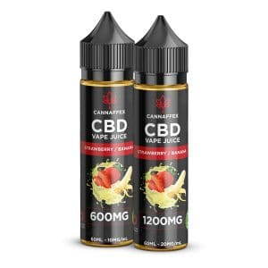 CBD Vape Juice Strawberry Banana 600mg and 1200mg