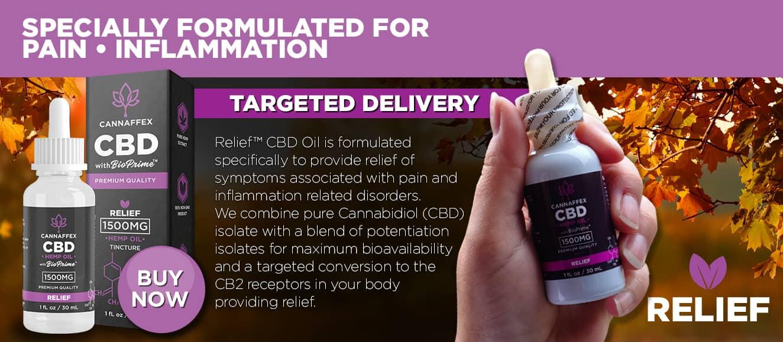 Cannaffex relief CBD tinctures Canada